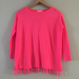 Lilly Pulitzer Bright Pink Knit Sweater  L (8/10)